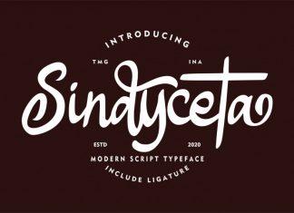 Sindyceta Script Font