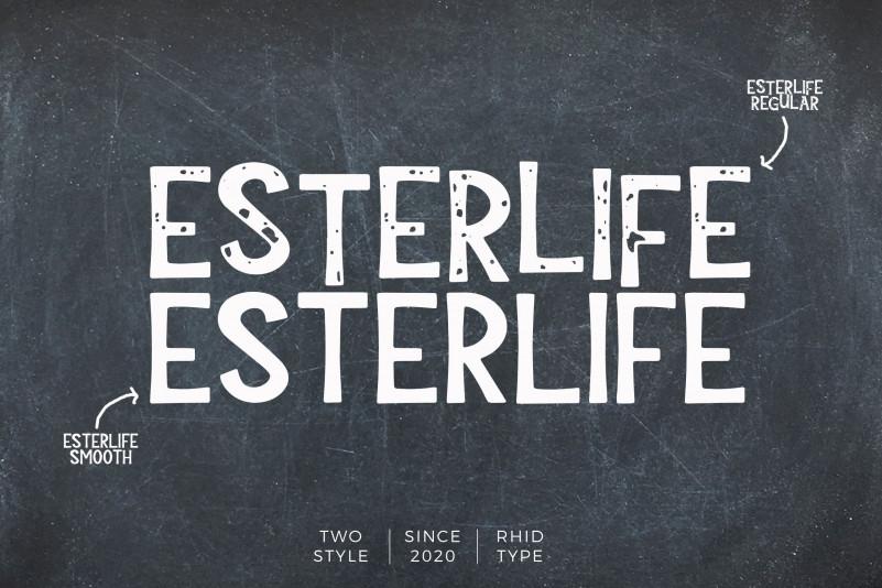 ESTERLIFE Display Font