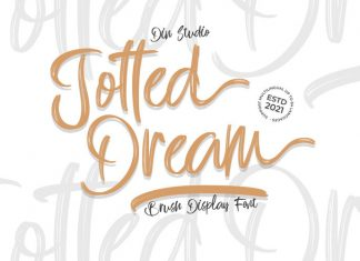Jotted Dream Brush Font