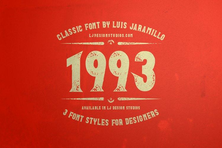 1993 Display Font