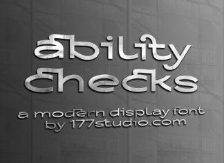 Ability Checks Sans Serif Font