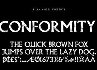 CONFORMITY Display Font