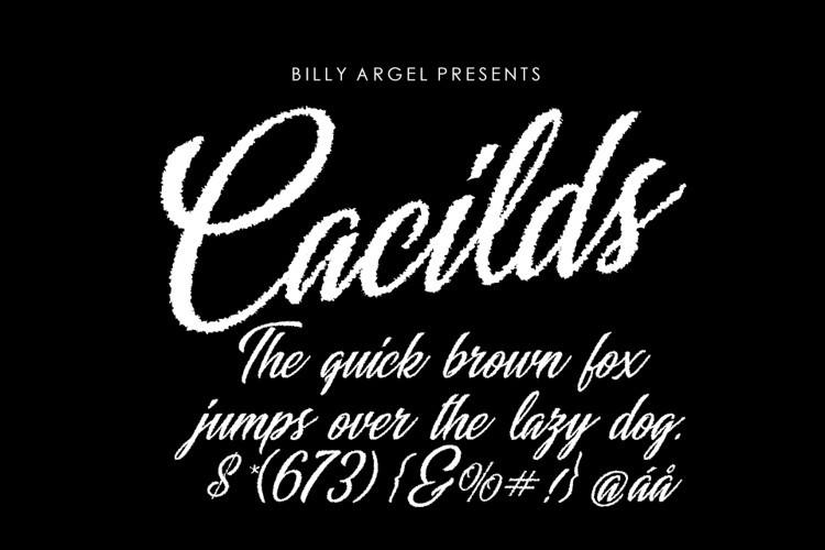 Cacilds Script Font