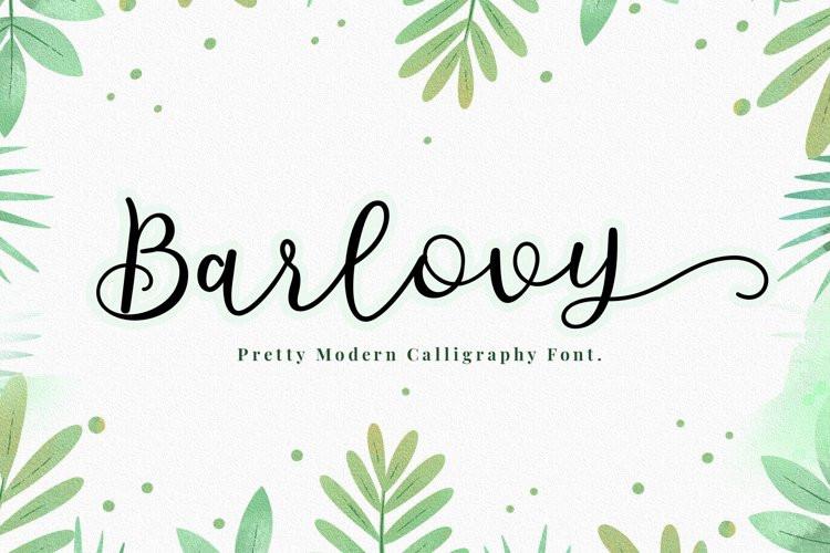 Barlovy Script Font