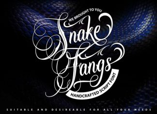 Snake Fangs Calligraphy Font