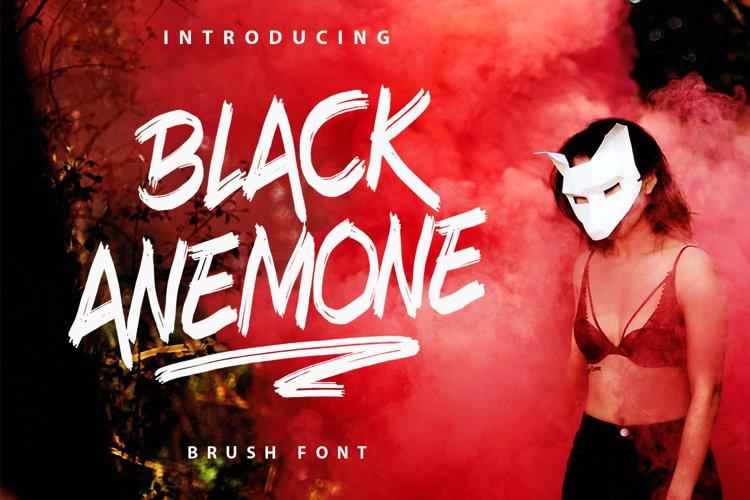 Black Anemone Brush Font