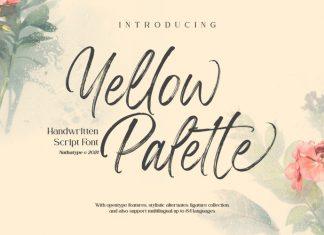 Yellow Palette Script Font