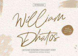 William Dhatos Script Font