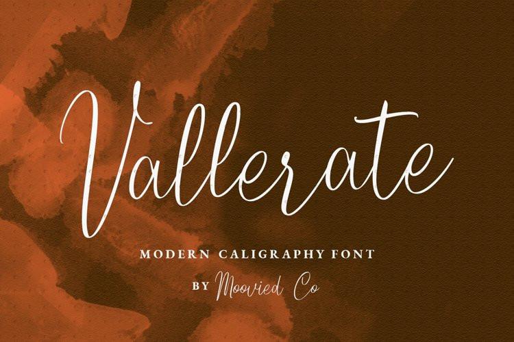 Vallerate Script Font