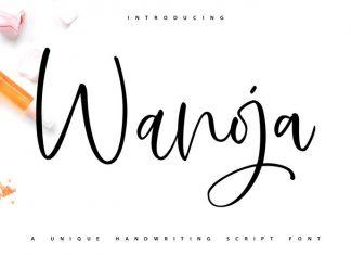Wanoja Script Font