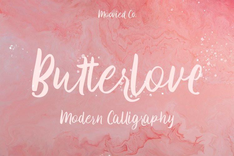 Butterlove Script Font