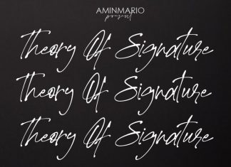 Theory Of Signature Font
