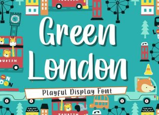 Green London Brush Font