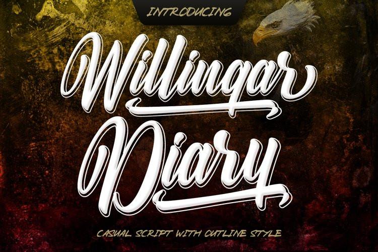Willingar Diary Script Font