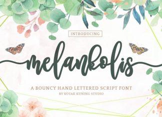 Melankolis Calligraphy Font
