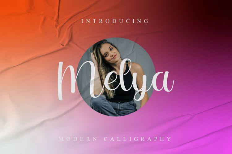 Melya Script Font