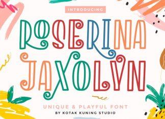 Roserina Jaxolyn Display Font