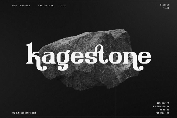 Kagestone Display Font