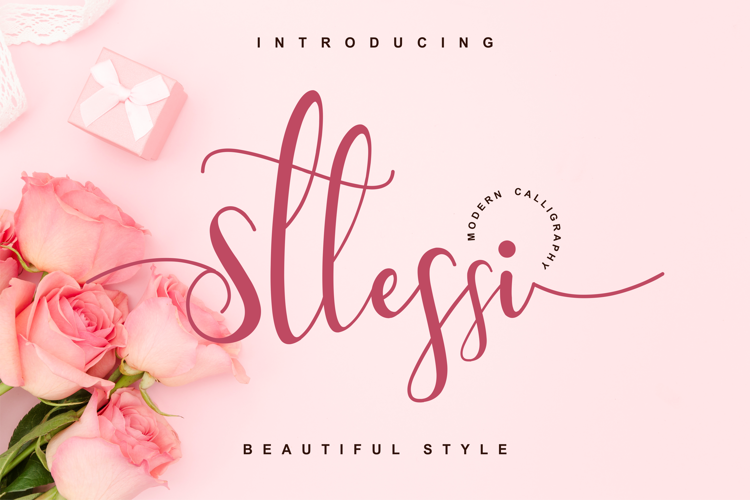 Sttessi Calligraphy Font