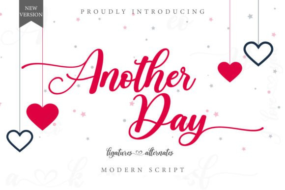 Another Day Calligraphy Font