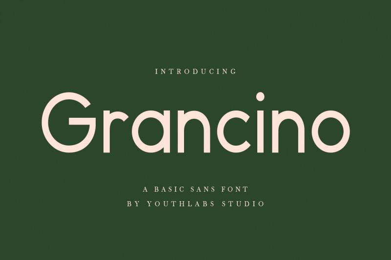 Grancino Sans Serif Font