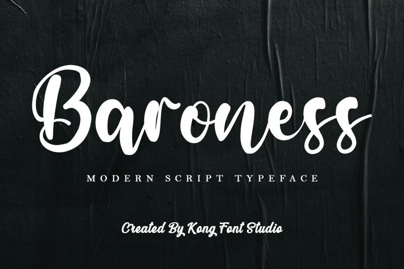Baroness Script Font