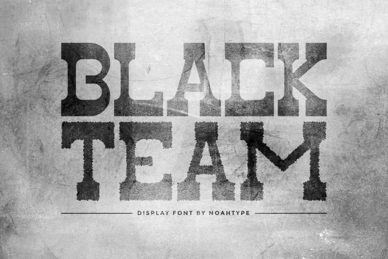Black Team Display Font