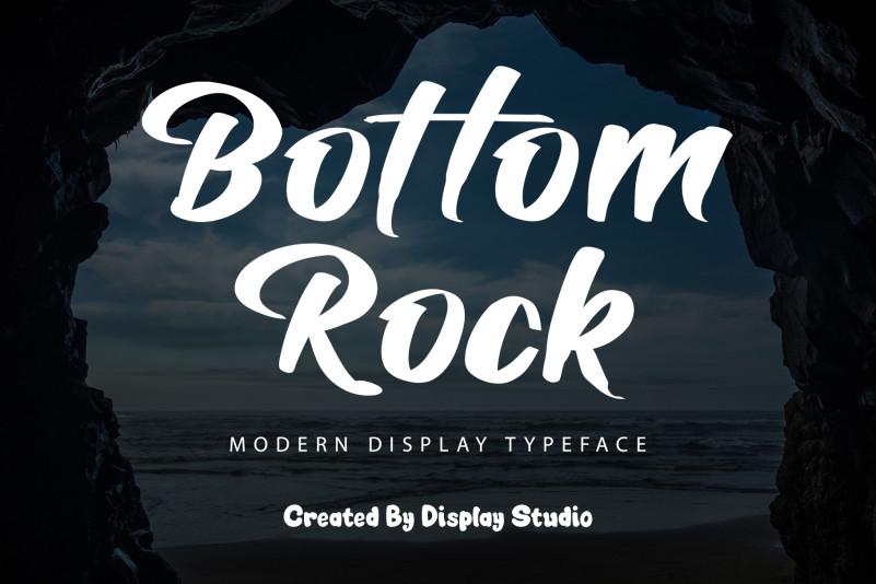 Bottom Rock Script Font