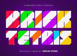 Brick Tetris Display Font