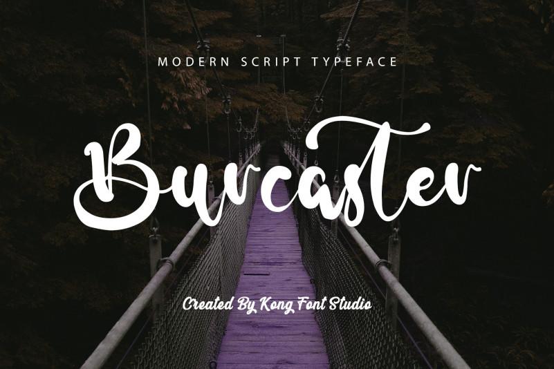 Burcaster Script Font