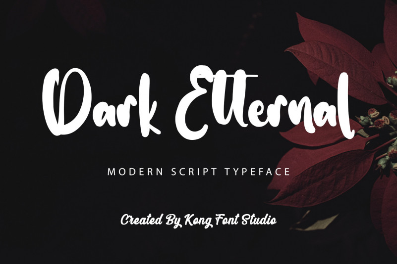 Dark Etternal Script Font