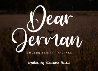 Dear Jerman Script Font