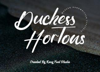 Duchess Hortons Script Font