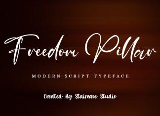 Freedom Pillar Script Font