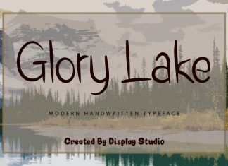 Glory Lake Script Font