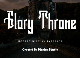 Glory Throne Display Font