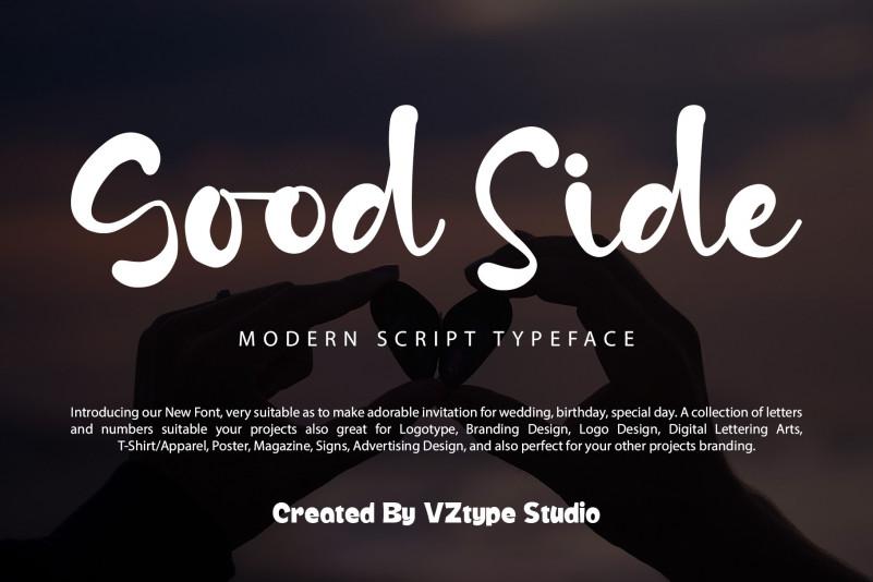 Good Side Script Font