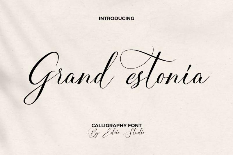 Grand Estonia Script Font