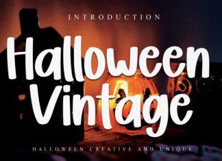 Halloween Vintage Brush Font