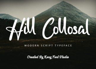 Hill Collosal Script Font
