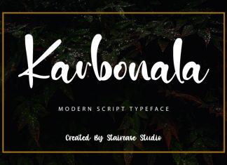 Karbonala Script Font
