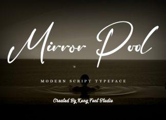Mirror Pool Script Font
