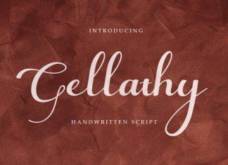 Gellathy Calligraphy Font