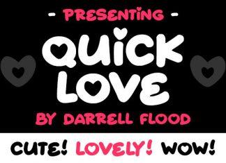 Quick Love Display Font