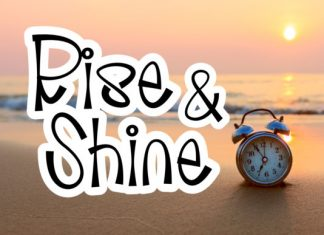 Rise And Shine Handwritten Font