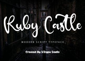 Ruby Castle Script Font