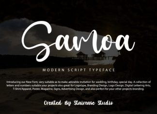 Samoa Script Font