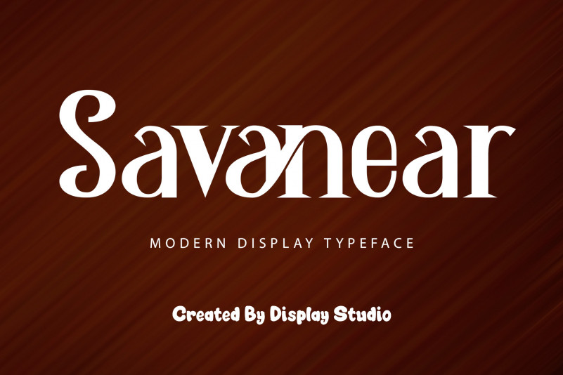Savanear Display Font