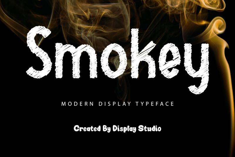 Smokey Display Font