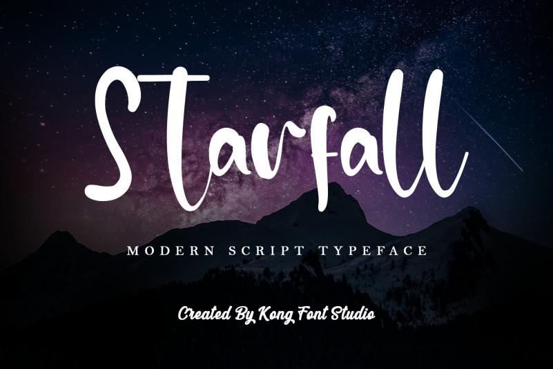 Starfall Script Font